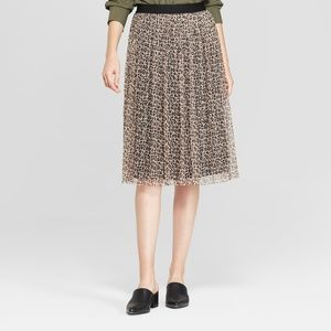 A New Day Leopard-Print Tulle Midi Skirt Size XL
